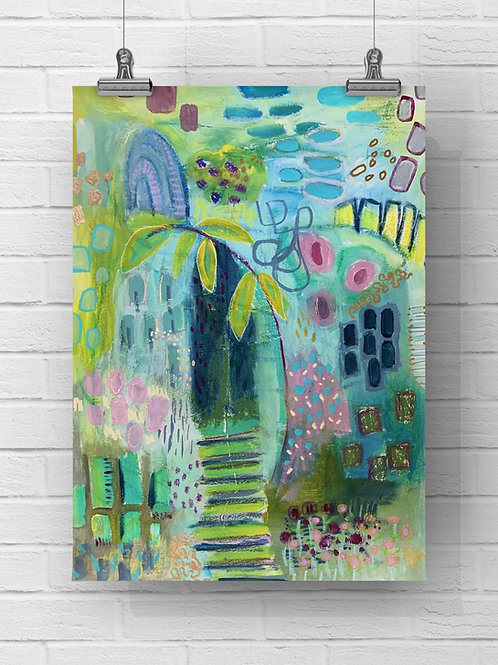 """Mystery Garden"" Original - 11x14 on paper"