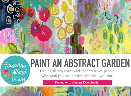"""My new online class, """"Paint an Abstract Garden,"""" is live on Skillshare!!"""