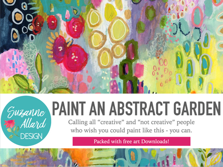 "My new online class, ""Paint an Abstract Garden,"" is live on Skillshare!!"