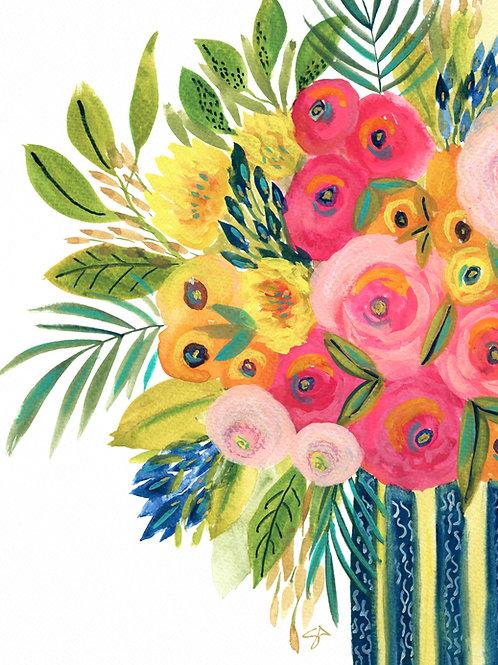 Le Petite Bouquet - Vertical Giclée Print