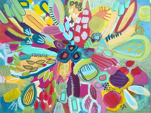 Dancing in the Garden -11 x 14 on paper