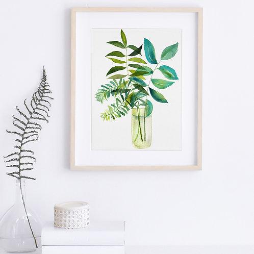 Caribbean Breeze - Vertical Giclée Print