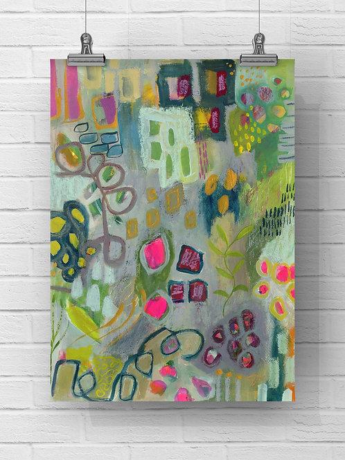 """""""A Garden of Love Original"""" -11x15 on paper"""