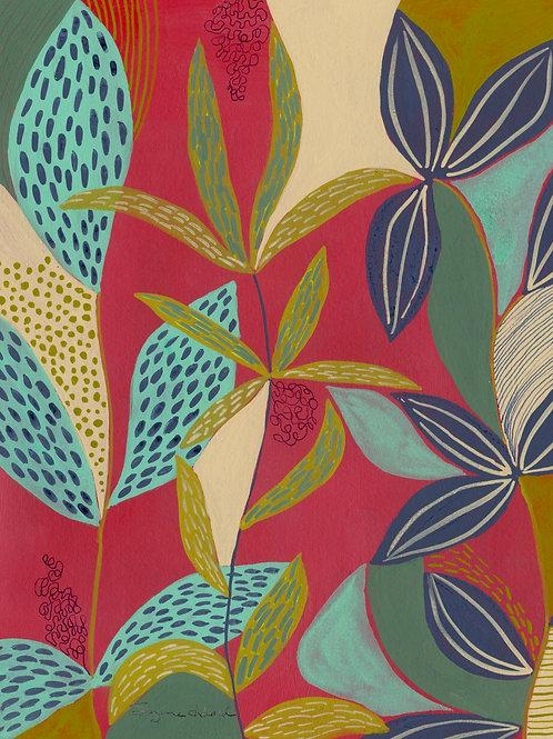 Sea Garden - Vertical Giclée Print