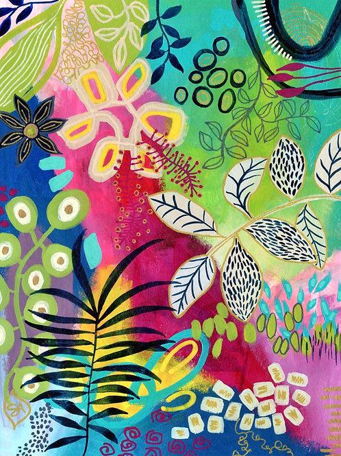 Jungle Adventure - Vertical Giclée Print