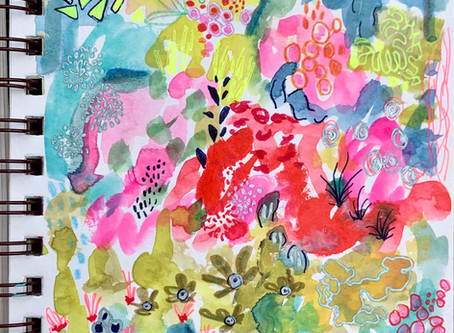 Discovering color and shape with mixed media