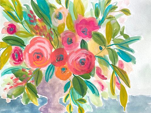 Savannah Summer - Original, 11 x 15 on paper