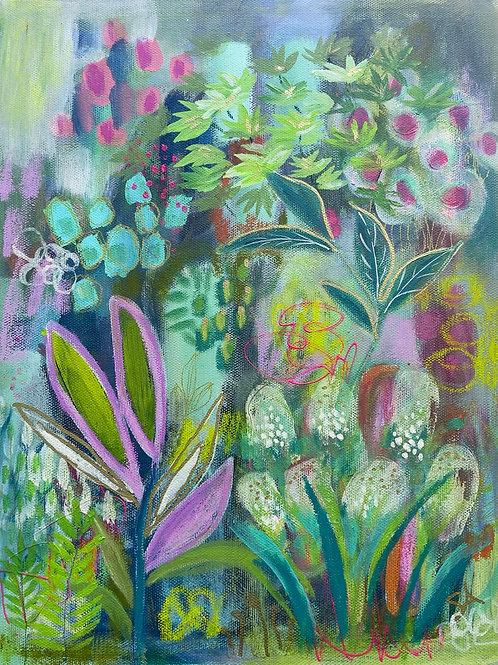 Sylvan Park Garden - Original on 11x14 canvas