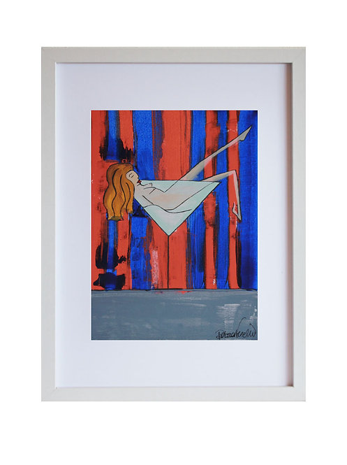 Abstract Framed Colorful Portrait of a woman in a Martini Glass