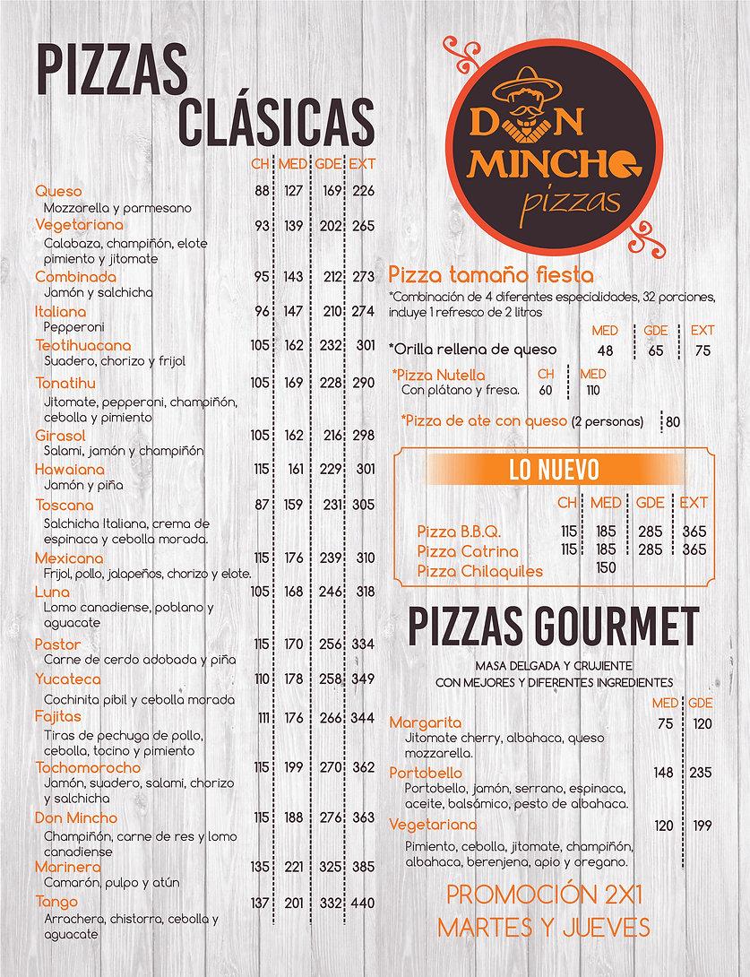 3. Pizzas CARTAS NUEVAS actualizadas 202