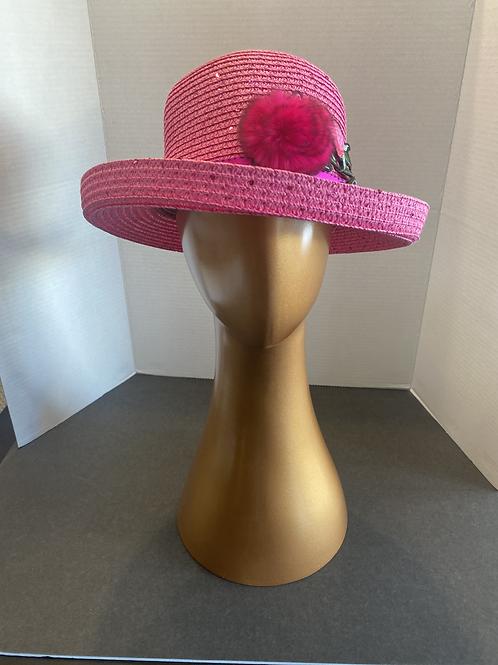 Fuchsia Bowler Hat: SALE Item