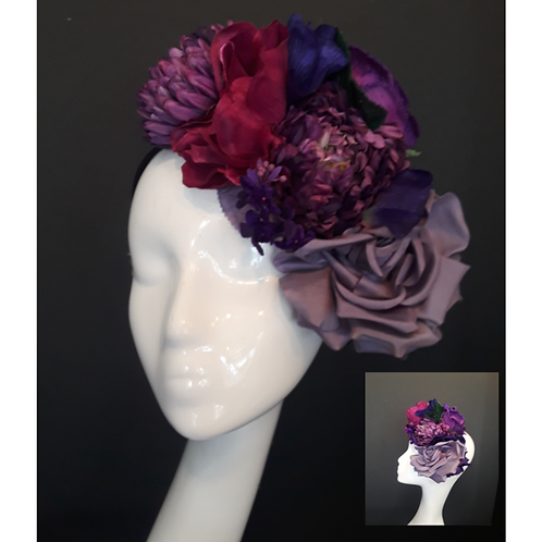 Multi Purple Floral Band