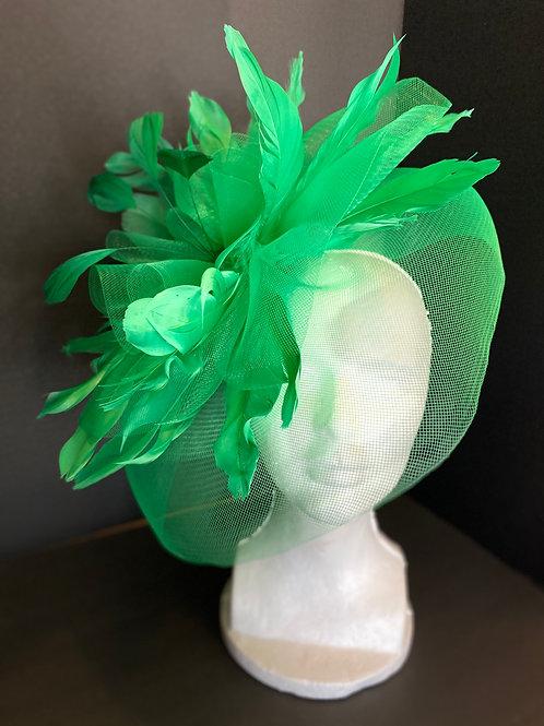"The ""Vivica"" Emerald Green Fascinator"