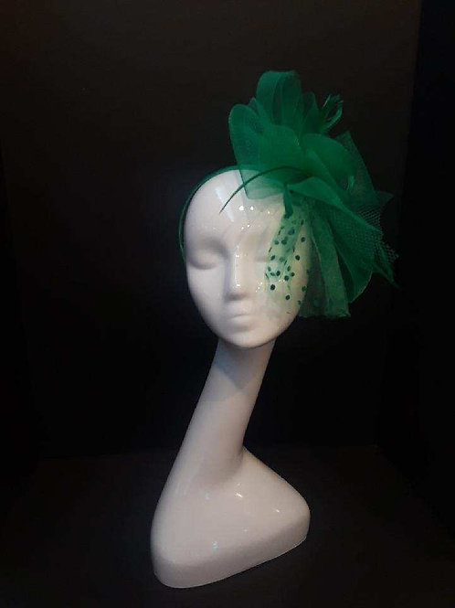 Kelly Green Horsehair Fascinator