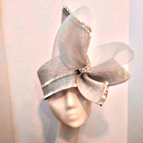 Silver Double Bow Pillbox