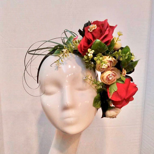 Floral Band w/ green, red and black accents