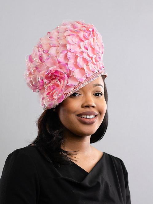 Floral Pink Petal Hat