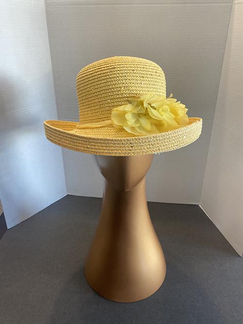 Sunshine Yellow Bowler Hat: SALE Item