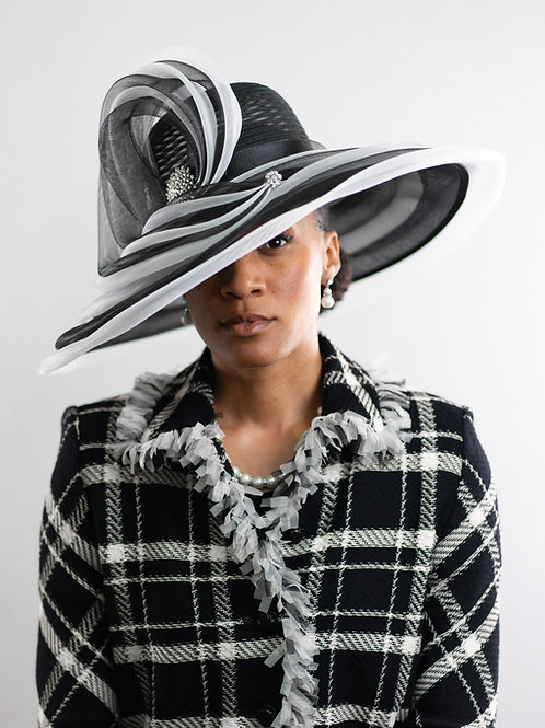 Horsehair Braid Swirl Hat