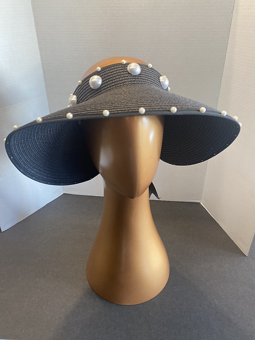 The Mallory Crownless Pearl Visor: SALE Item