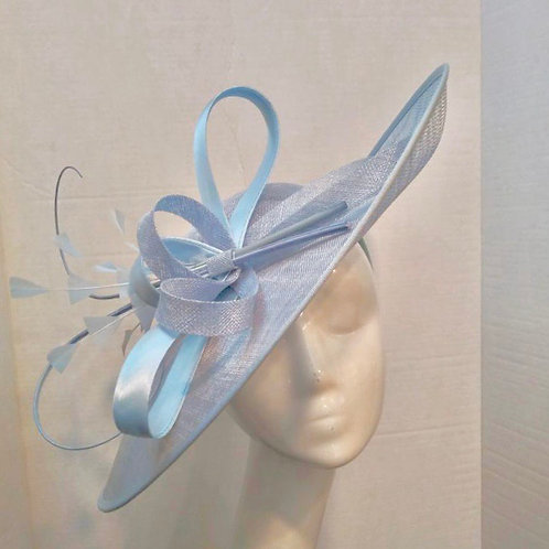 Powder Blue Asymmetric Fascinator