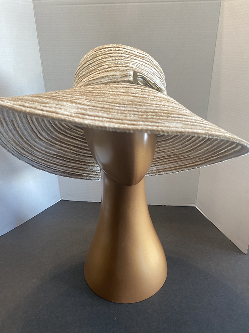 The Chenielle Cream & White Wide Brim: SALE Item