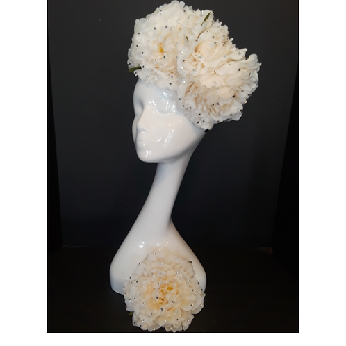 Ivory Floral Band w/ Matching Corsage