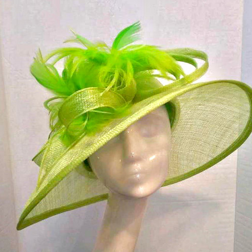 Lime Green Sinamay