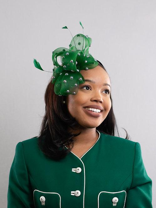 Green Pearl Fascinator