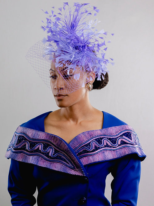 Two Toned Plume Feather Fascinator
