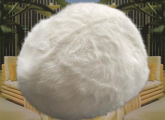 Vintage White KANGOL Angora Beret Winter Hat.