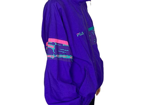 Purple Fila Sports Zip Up Jacket