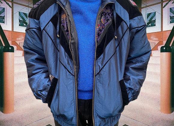Metallic 1980's Puffer Jacket