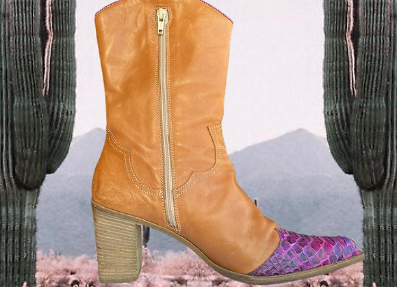One of a kind Leather Cowboy Boots