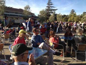 Town Park Plaza dedication event