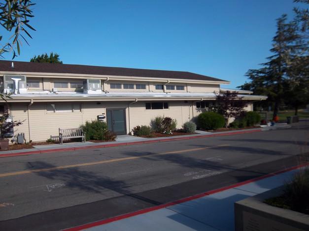 Community Center viewed across driveway