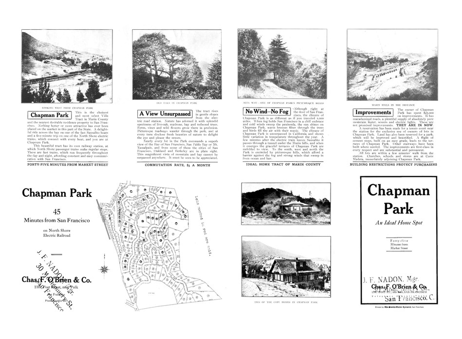 Chapman Park early 1900s sales brochure