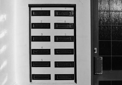 twelve letterboxes