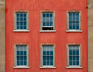 sash windows set in orange