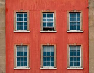 sash windows set in orange