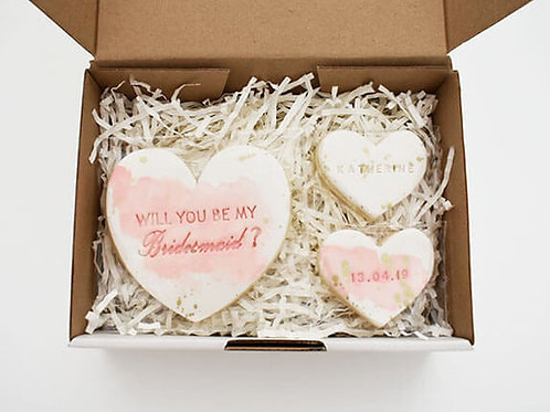 Custom bridal party proposal cookie set