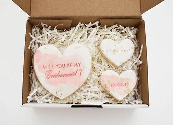 Custom bridal party proposal cookie set