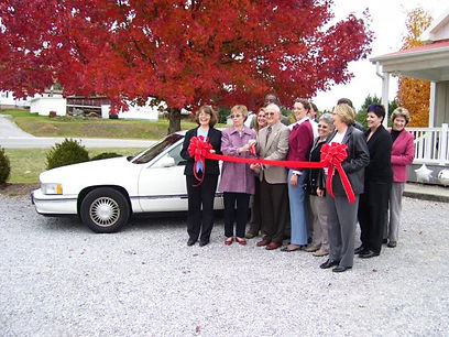 Donated Cadillac in the parking lot at Mennonite Church in Christiansburg  - photo provided by Better Agreements, Inc.