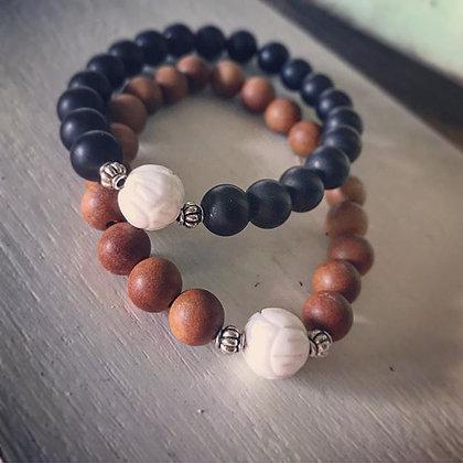 'Magnolia Bud' Stretch Bracelet