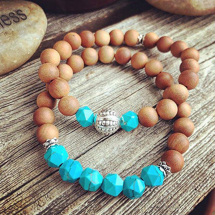 'Sandalwood Sky' Stretch Bracelet Set