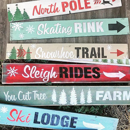 Winter Sign workshop Friday Dec 6th 6:30-8:30