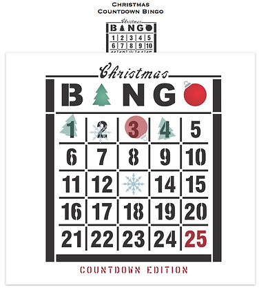 Christmas Countdown BINGO