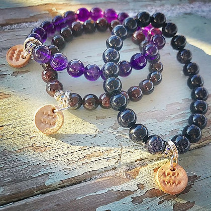 'Zodiac' Aquarius Gemstone Stretch Bracelet