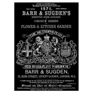 Barr's & Sugden Seed Packet