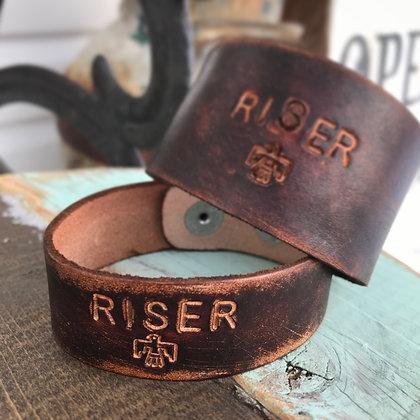'Riser' Leather Cuff